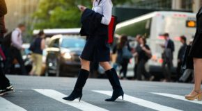 Should Texting While Walking Be Banned?